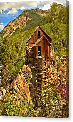Crystal Colorado Canvas Print - Colorful Crystal Mill by Adam Jewell