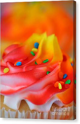 Colorful Cup Cake Canvas Print by Darren Fisher