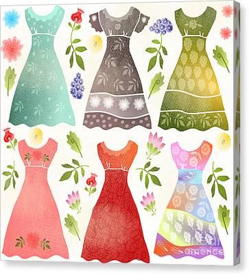 Colorful Dresses Canvas Print by Elaine Jackson