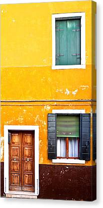 Colorful Entry Canvas Print by Susan Schmitz
