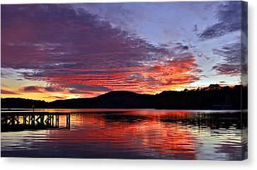 Colorful Evening Canvas Print by Susan Leggett
