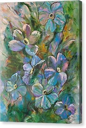 Colorful Floral Canvas Print by Roberta Rotunda
