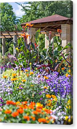 Colorful Flowerbed Canvas Print by Palatia Photo