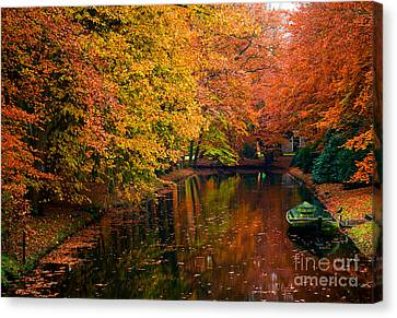 Canvas Print featuring the photograph Colorful Forest by Boon Mee