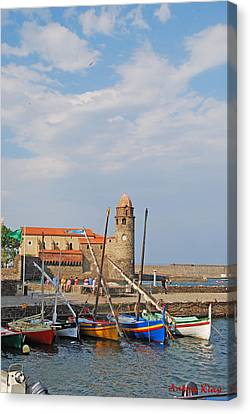 Colorful Harbour Canvas Print by Ankya Klay