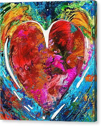 Colorful Heart Art - Everlasting - By Sharon Cummings Canvas Print by Sharon Cummings