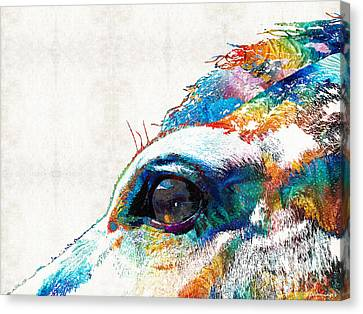 Horse Stable Canvas Print - Colorful Horse Art - A Gentle Sol - Sharon Cummings by Sharon Cummings