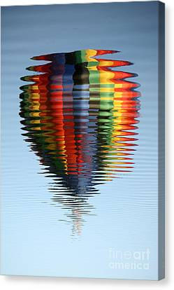 Colorful Hot Air Balloon Ripples Canvas Print by Carol Groenen