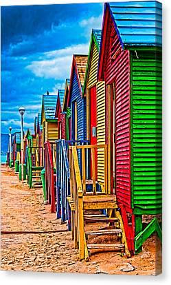 Colorful Houses At St James Canvas Print by Cliff C Morris Jr