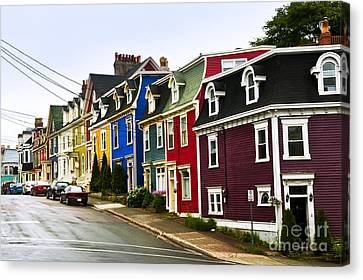 Newfoundland Canvas Print - Colorful Houses In Newfoundland by Elena Elisseeva