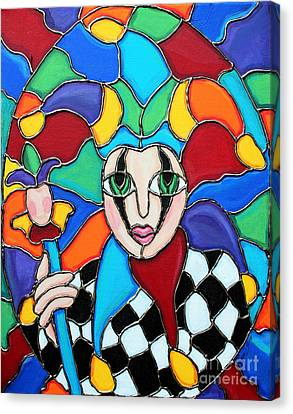 Colorful Jester Canvas Print