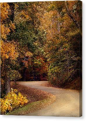Colorful Journey - Autumn Scene Canvas Print by Jai Johnson
