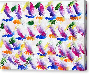 Colorful Kisses Canvas Print by Andee Design