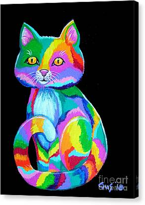 Colorful Kitten Canvas Print by Nick Gustafson