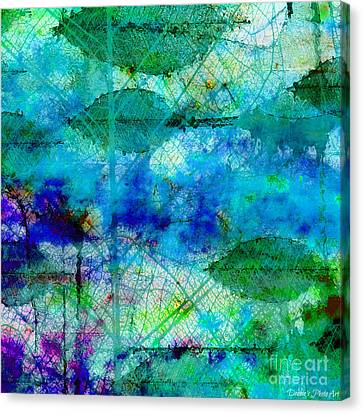 Colorful Leaves Abstract Iv Canvas Print by Debbie Portwood