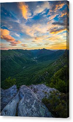 Colorful Linville Sunrise Canvas Print