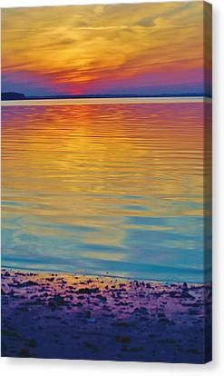 Colorful Lowtide Sunset Canvas Print by William Bartholomew