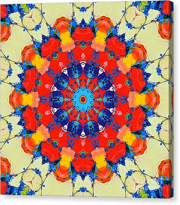 Colorful Mandala Canvas Print by Ana Maria Edulescu