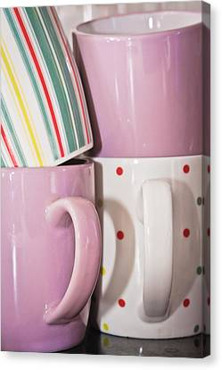Colorful Mugs Canvas Print by Tom Gowanlock