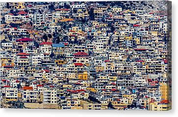 Colorful Neighborhood Canvas Print by Jacki Soikis