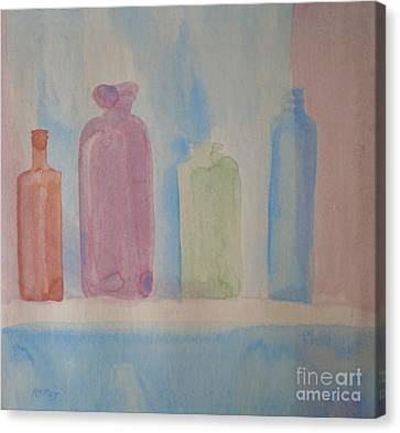 Colorful Old Friends Canvas Print by Suzanne McKay