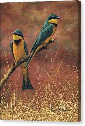 Colorful Pair Canvas Print by Lucie Bilodeau