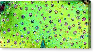 Canvas Print featuring the painting Colorful Peacock by Karen Mattson