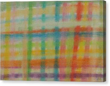 Canvas Print featuring the drawing Colorful Plaid by Thomasina Durkay