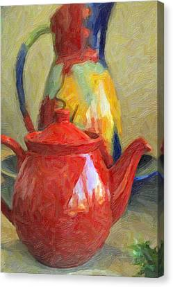 Colorful Pottery Canvas Print by Kenny Francis