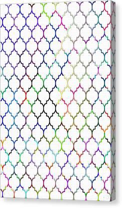 Colorful Quatrefoil Canvas Print by Cassie Peters