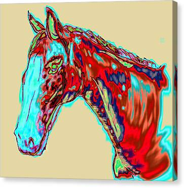 Colorful Race Horse Canvas Print by Mark Moore