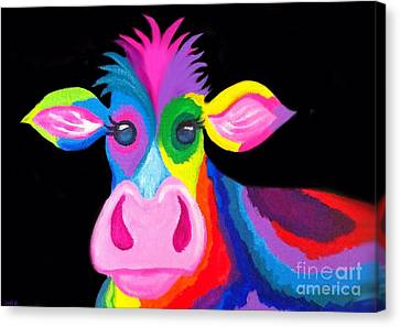 Canvas Print - Colorful Rainbow Cow by Nick Gustafson