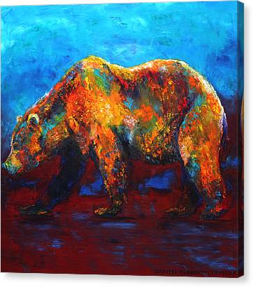 Colorful Reflections Bear Painting Canvas Print
