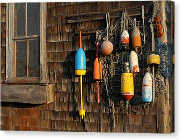 Colorful Rockport Buoys  Canvas Print