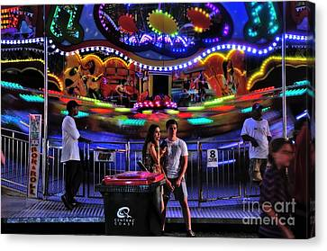 Colorful Rok And Roll Canvas Print