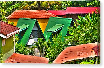 Michelle Canvas Print - Colorful Rooftops In Costa Rica by Michelle Wiarda-Constantine