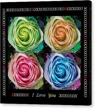 Colorful Rose Spirals With Love Canvas Print by James BO  Insogna
