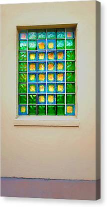 Colorful Savannah Window Canvas Print