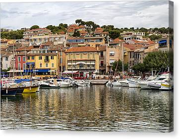 Colorful Seaside Town In France Canvas Print by Georgia Fowler