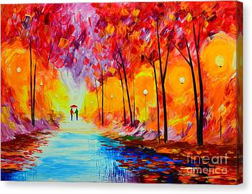 Colorful Season Canvas Print by Mariana Stauffer