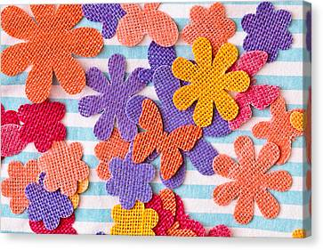 Colorful Shapes Canvas Print by Tom Gowanlock
