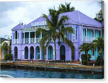 Port Town Canvas Print - Colorful Shopping Experience On Tortola British Virgin Islands Bvi by Georgia Mizuleva