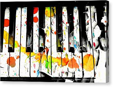 Canvas Print featuring the photograph Colorful Sound by Aaron Berg