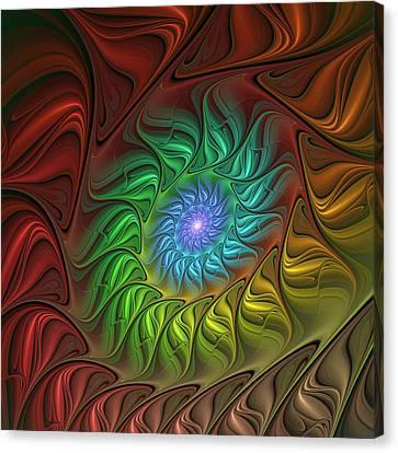 Colorful Spiral Canvas Print by Gabiw Art