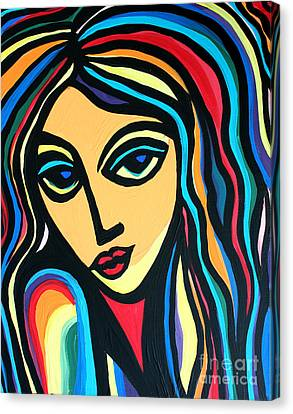 Colorful Stare Canvas Print by Cynthia Snyder