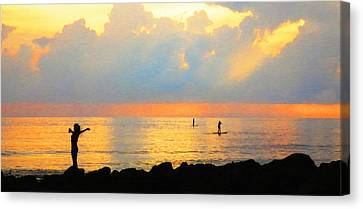 Colorful Sunset Art - Embracing Life - By Sharon Cummings Canvas Print