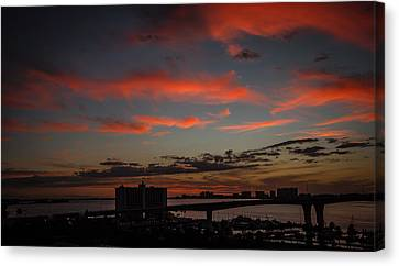 Canvas Print featuring the photograph Colorful Sunset by Jane Luxton