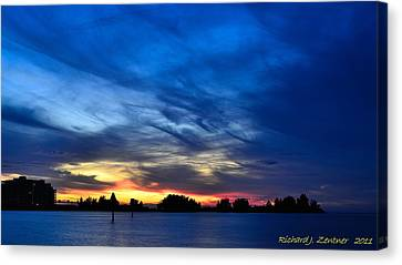 Canvas Print featuring the photograph Colorful Sunset by Richard Zentner