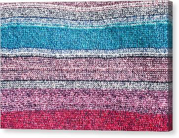 Colorful Textile Canvas Print by Tom Gowanlock