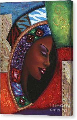 Canvas Print featuring the mixed media Colorful Thought by Alga Washington